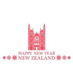 Happy New Year New Zealand vector image