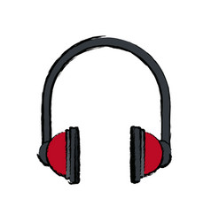 Headphones equipment accessory audio music icon vector