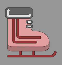 Icon in flat design skates vector