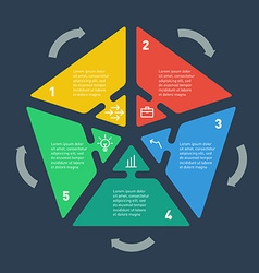 Infographics circle arrows info graphics with vector