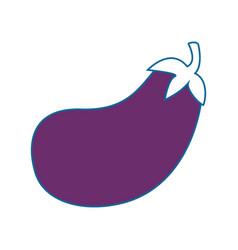 Isolated cute eggplant vector