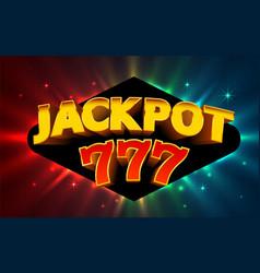 Jackpot winner online casino banner 777 casino vector