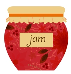 Jam jar retro vector