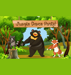 Jungle dance park scene vector