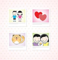 Love photo memories vector