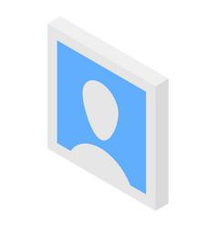 Man default avatar icon isometric style vector