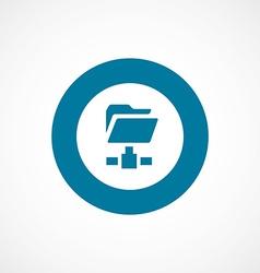Net folder bold blue border circle icon vector