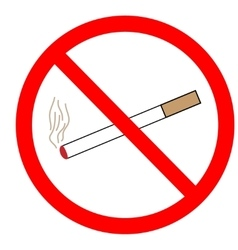 No smoking sign in red ring vector