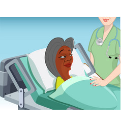 Nursing home patient vector