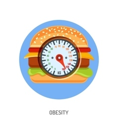 Obesity and Overweight Concept vector image