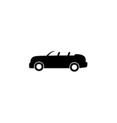 open-top car icon element of car type icon vector image