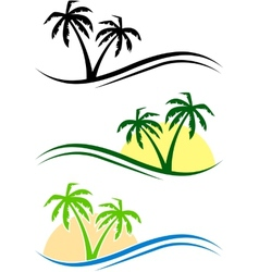 Palms set vector image