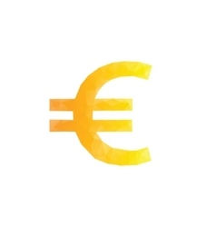 Polygonal euro sign vector