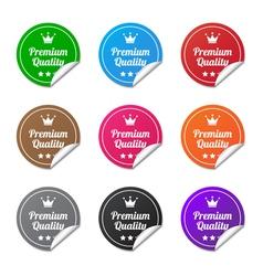 Premium quality stickers vector