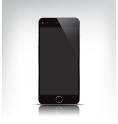 realistic phone with empty screen vector image