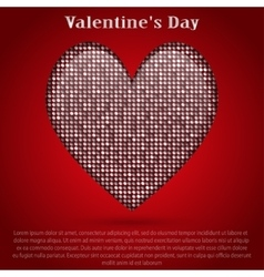 Red sequin background I love you Valentines Day vector image
