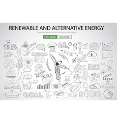 Renewable and Alternative Energy concept with vector