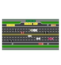 Road infographics plot highway street vector