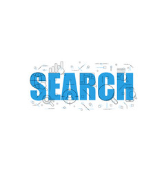 search related from line icon with word vector image