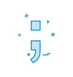 Semicolon icon design vector