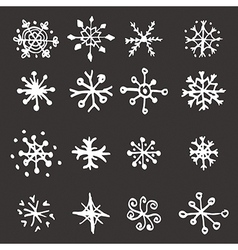 Snowflake doodle graphic vector image