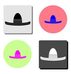 sombrero mexican hat flat icon vector image