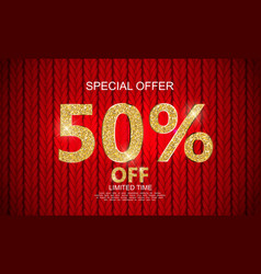 Special offer sale background vector