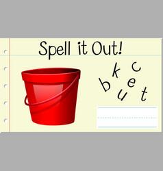 Spell english word bucket vector