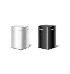 steel and black square boxes or containers 3d vector image