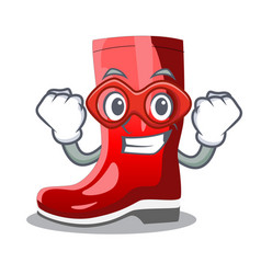 Super hero single of boots isolated on mascot vector