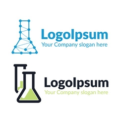 Template logo chemical flask vector