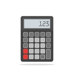 Top View of Black Calculator on vector image
