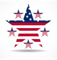 usa flag in stars shape vector image
