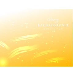 Yellow abstract glowing golden background vector