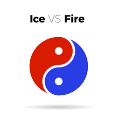 yin yang icon harmony symbol vector image