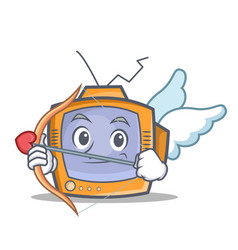 cupid tv character cartoon object vector image vector image
