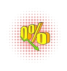 Decline in revenue icon comics style vector