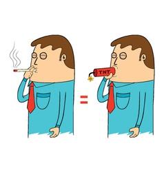 Man smoking vector image vector image