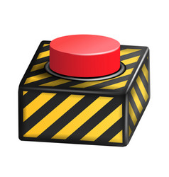 red panic button sign red alarm shiny vector image
