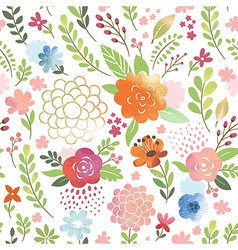 watercolor seamles floral pattern vector image
