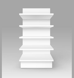 white empty trade stand shop rack storefront vector image vector image