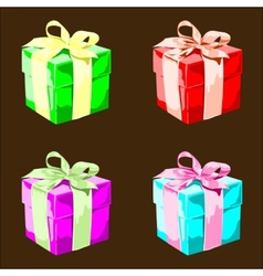 Colorful Present Boxes vector image