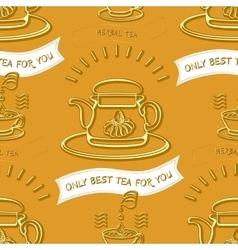 Herbal tea theme seamless pattern vector image vector image
