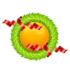 round wreath vector image vector image