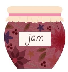 Vintage jam jar vector image vector image