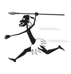 Aboriginal running bw vector