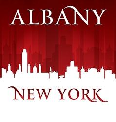 Albany New York city skyline silhouette vector image vector image