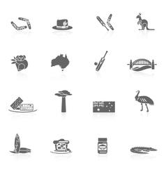 Australia icons set vector image vector image