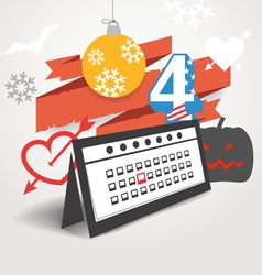 Different holidays of the year vector image vector image
