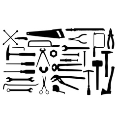 different tools vector image vector image